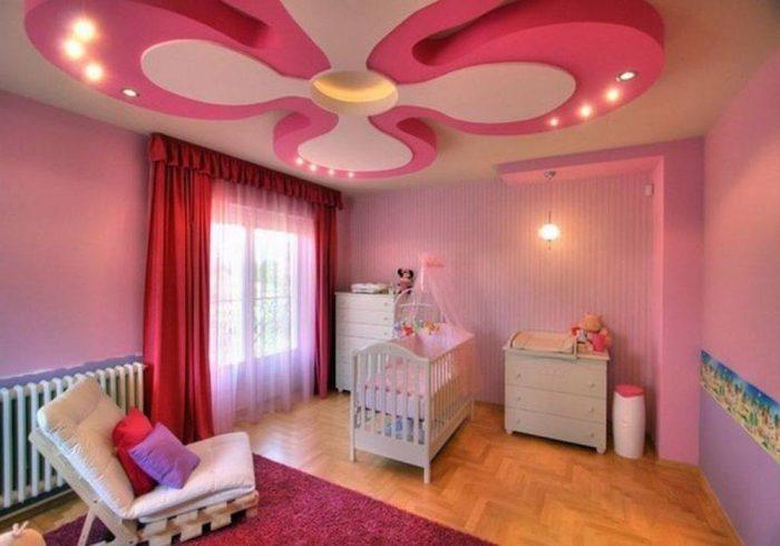 ديكورات جبس غرف نوم أطفال بالصور وأنواع الديكورات الجبس شقاوة