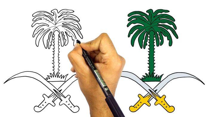 رسومات اليوم الوطني للأطفال