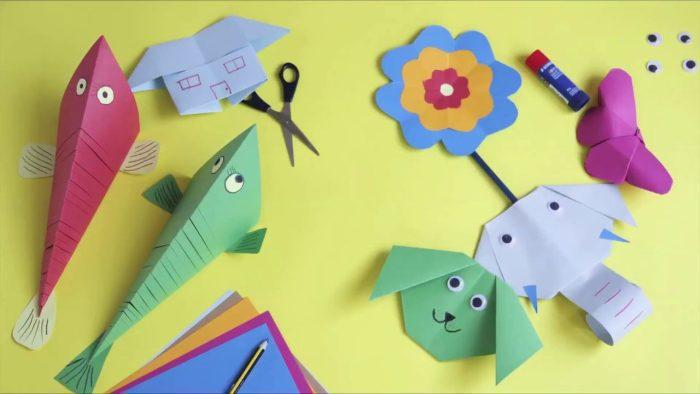 صنع العاب من الورق للأطفال