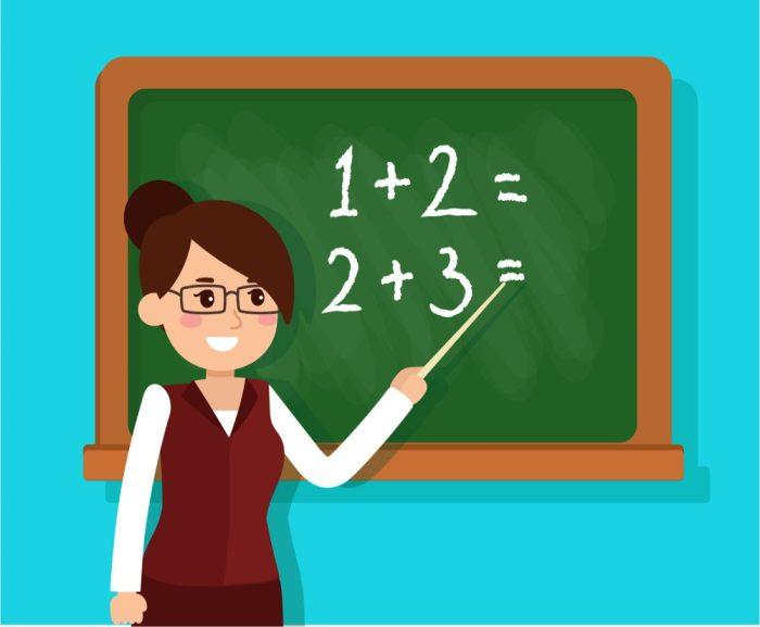كلمة شكر لمعلمة الرياضيات