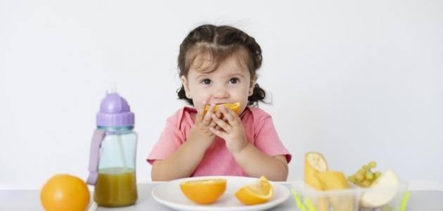 نظام غذائي لطفل سنتين