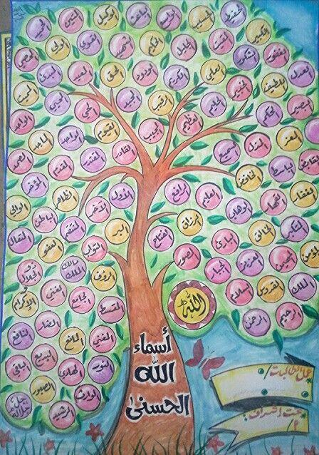 شجرة أسماء الله الحسنى للأطفال