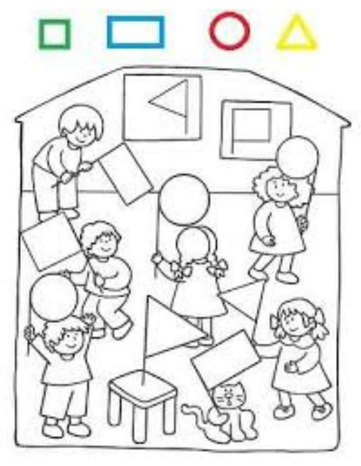 رسم أشكال هندسية للأطفال