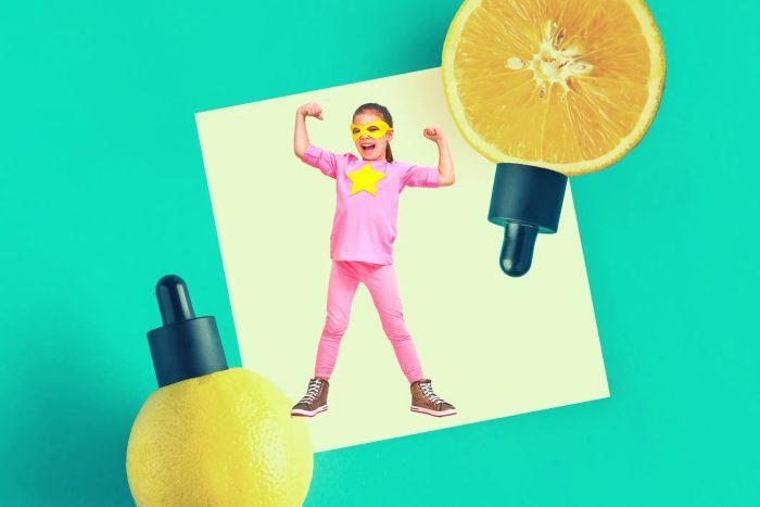 فيتامين سي للأطفال شراب